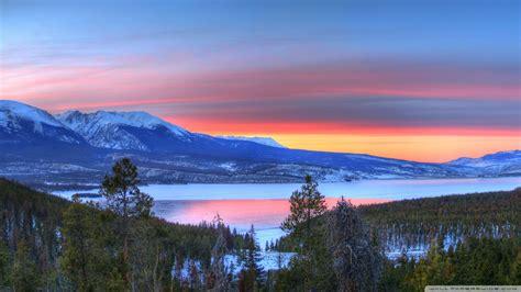 Download Mountain Lake Sunset Nature Wallpaper 1920x1080