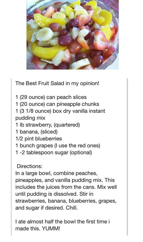 fruit salad  vanilla pudding food  drinks