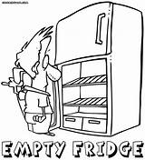 Refrigerator Fridge Coloring Drawing Getdrawings Stuff sketch template