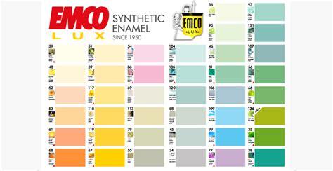 berikut  kartu warna emcolux