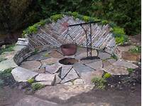 inspiring patio design ideas with fire pits Home Design: Outstanding Backyard Patio Designs With Fire ...