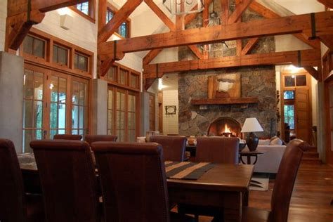 wooden beams  stone  perfect combination