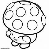 Shopkins Mushy Dessin Mushroom Moo Miss Coloring 1s Season Inspirant sketch template