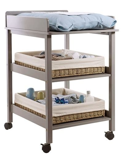 shelves changing table compact changing table wheels with brakes for moving around and 2 practical storage shelves