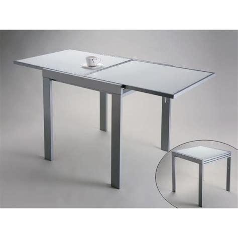 table de cuisine en verre avec rallonge table design extensible versa en verre blanc achat