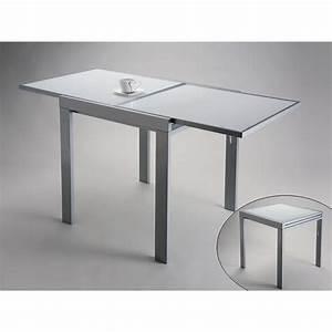 Table Design Extensible VERSA En Verre Blanc Achat