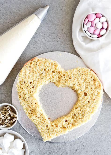 white chocolate cream cheese naked heart cake sugar salted