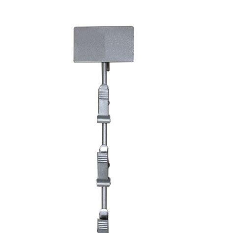 grey metal clip strip  label panel ea limited quantities retail supplies