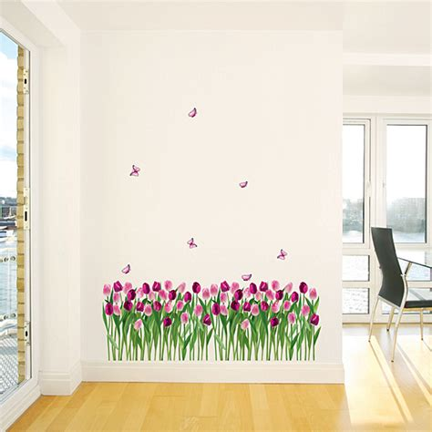 Tulip Flower Garden Wall Stickers Will Endear Your Family
