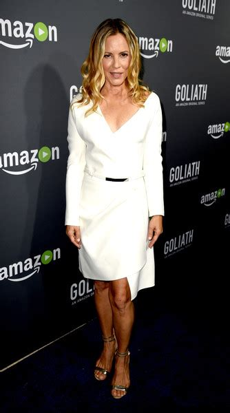 Maria Bello Wrap Dress - Maria Bello Looks - StyleBistro