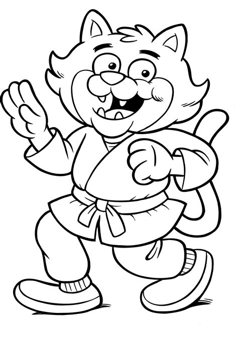 ata taekwondo coloring pages