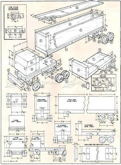 wooden toy plans printable wooden toy trucks