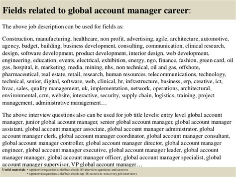 Account Manager Questions by Top 10 Global Account Manager Questions And Answers