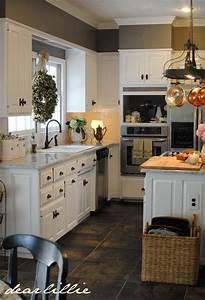 kitchen white cabinets gray walls wall color benjamin With kitchen colors with white cabinets with wall art removable
