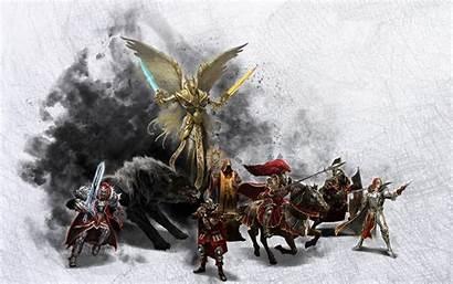 Magic Might Heroes Horsemen Four Digital Wallpapers