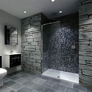 le receveur de douche extra plat elegance pour la salle With porte de douche coulissante avec salle de bain zen pierre