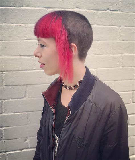 Collection by punkboy stripes • last updated 11 days ago. skingirl with chelsea haircut / half shaved head | Half ...