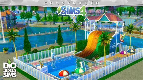 Poltrona Gonfiabile Piscina The Sims : Piscina Com TobogÃ! П�� Construindo No The Sims 4