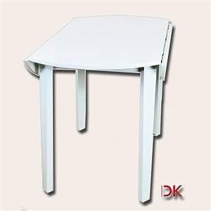 Küchentisch Rund Weiß : esstisch tisch rund 92cm klappbar k chentisch hevea holz wei platte mdf 713002 ebay ~ Markanthonyermac.com Haus und Dekorationen