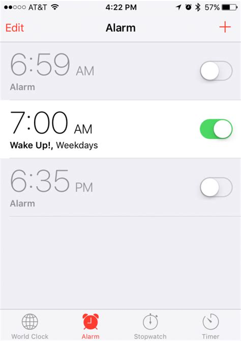 set an alarm on my phone set a recurring alarm in ios on my iphone ask dave