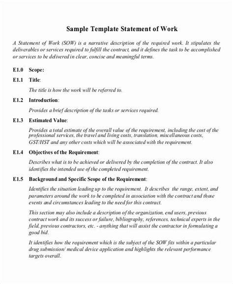 statement  work sample   statement  work