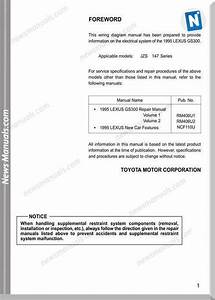Lexus Gs300 1995 Wiring Diagram Manual Electrical