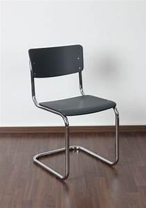 Freischwinger Stühle Klassiker : thonet s43 freischwinger bauhaus klassiker stuhl anthrazit mart stam chair ebay ~ Indierocktalk.com Haus und Dekorationen