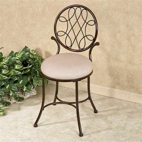 upholstered vanity chair for bathroom bedelia upholstered vanity chair