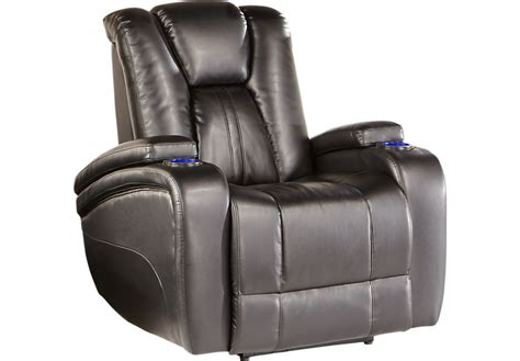 rooms to go leather recliner kingvale black power recliner recliners black