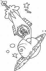 Rocket Ship Coloring Driving Pages Print Rockets sketch template