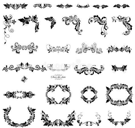 bloemen zwart witte versiering vector illustratie illustratie bestaande uit patroon