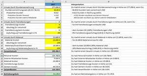 Umsatz Berechnen Excel : so geht stundenverrechnungssatz kalkulation ~ Themetempest.com Abrechnung