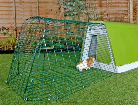 omlet rabbit hutch eglu go hutch 1m run appletons animal housing and