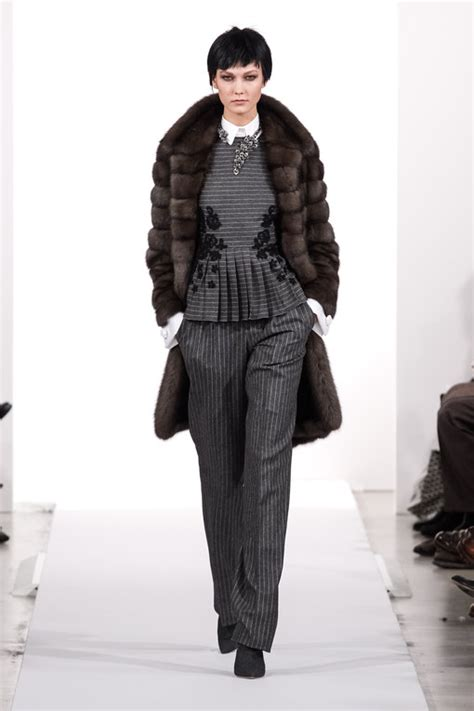 modeshow oscar de la renta new york fashion week h w 2014 2015 album photo wewomen be