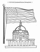 Coloring Election Pages Congress Vote Building Presidential Obama Flag Printable Romney Washington Dc Usa Getcoloringpages Archive Podium Kindergarten sketch template