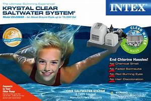 Intex Krystal Clear Saltwater System For Above
