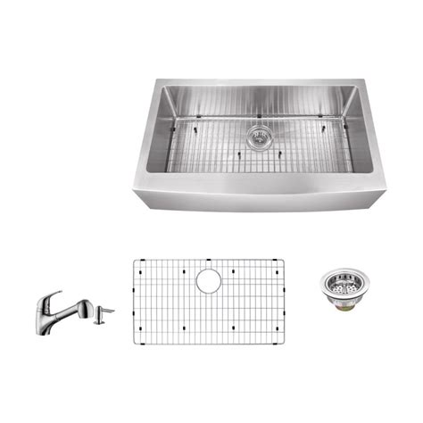 ipt sink company apron front 36 in 16 stainless steel kitchen sink in brushed stainless