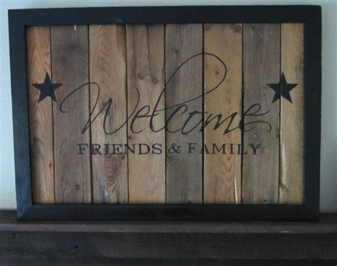 friends  family barnwood sign  msdssigns
