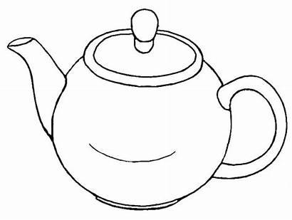 Teapot Tea Pot Coloring Pages Colouring Clipart