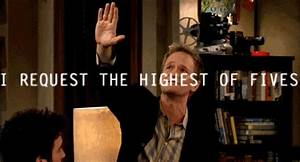 barney, funny, high five, how i met your - image #184878 ...