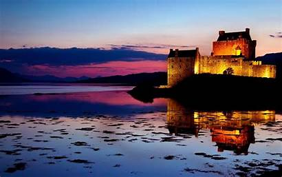 Castle Eilean Donan Sunset Scotland Wallpapers Lake