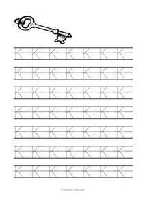 Printable Letter K Tracing Worksheets Preschool