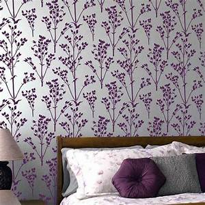 sprigs allover stencil pattern floral wall patterns With interior decoration wall stencils
