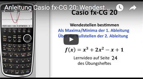 casio fx cg bedienungsanleitung wendestellen berechnen
