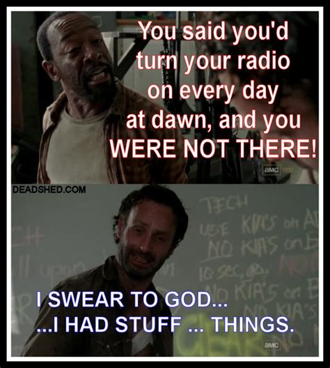 Stuff And Things Meme - deadshed productions road trip edition the walking dead 3x12 memes