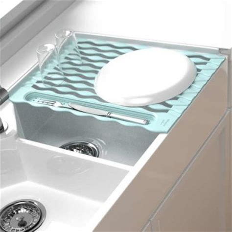roll up sink protector siliconezone by karim sink roll blue white dish racks