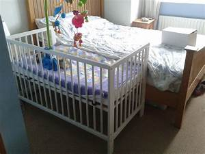 half crib that attaches to bed