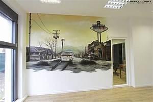 Wandbilder Fürs Büro : b ro 3d bild appolloart graffiti airbrush wandgestaltung fassadengestaltung in 3d ~ Bigdaddyawards.com Haus und Dekorationen