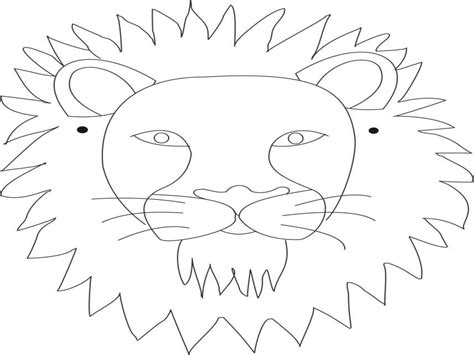 Lion Mask Coloring Pages Face Grig3org