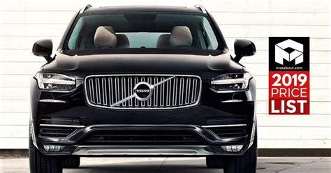 volvo cars suvs price list  india full lineup